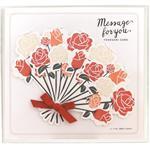 日本【LABCLIP】Message card bouquet系列紀念留言卡片-紅