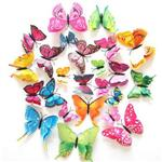 第二代逼真3D立體蝴蝶牆面裝飾貼紙(袋裝)