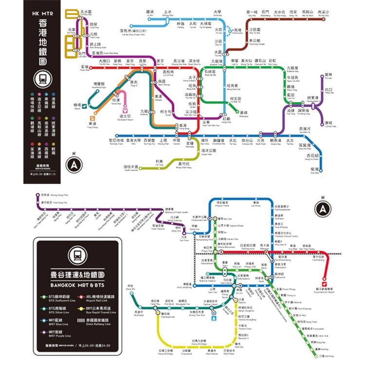 寫字好幫手-給我墊墊‧雙面墊板(曼谷城市地鐵圖+溫度、長度及方格圖樣)