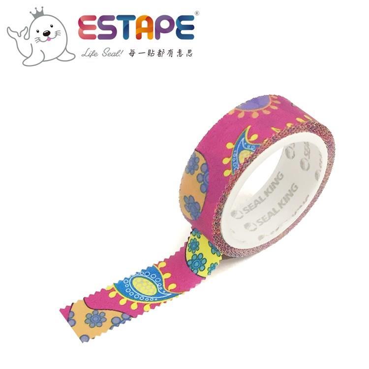 【ESTAPE】幾何系列裝飾膠帶-變形蟲款(手帳/裝飾/拼貼/標籤/重複貼黏)