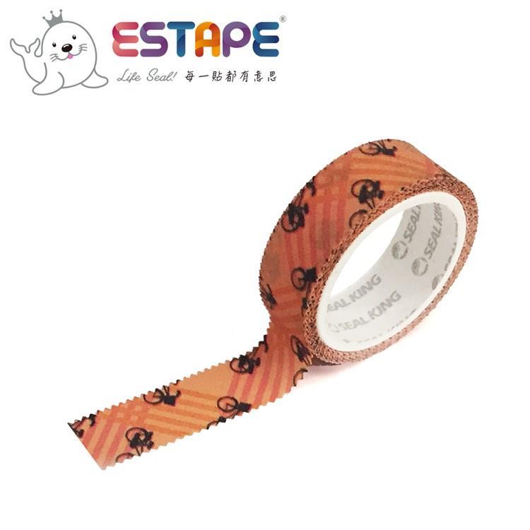【ESTAPE】幾何系列裝飾膠帶-腳踏車款(手帳/裝飾/拼貼/標籤/重複貼黏)