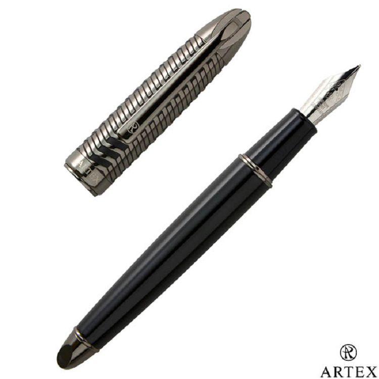 ARTEX 雅爵半節寬版鋼筆- 琴鍵/黑
