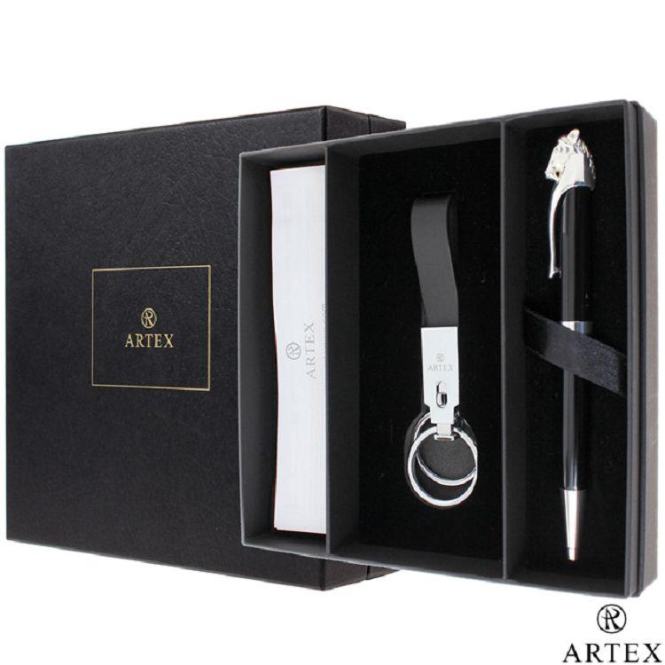 ARTEX 馬到成功原子筆 亮銀 限量禮盒組