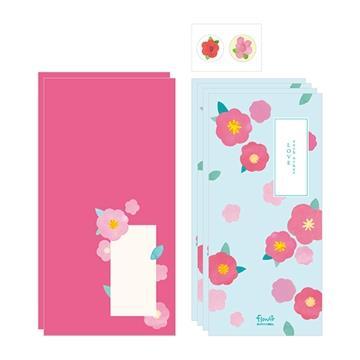 Flower花朵信紙組 01.天藍
