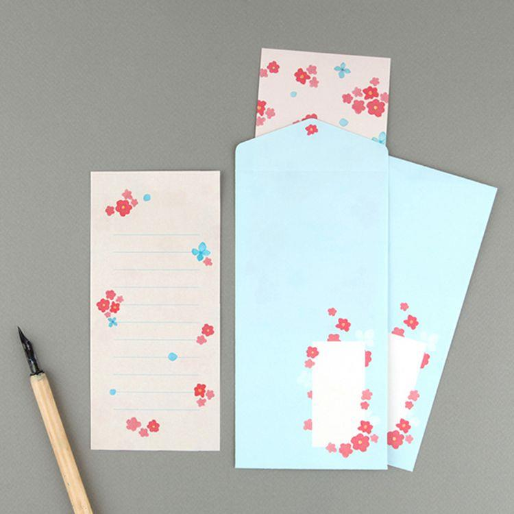 Flower花朵信紙組 05.櫻紅