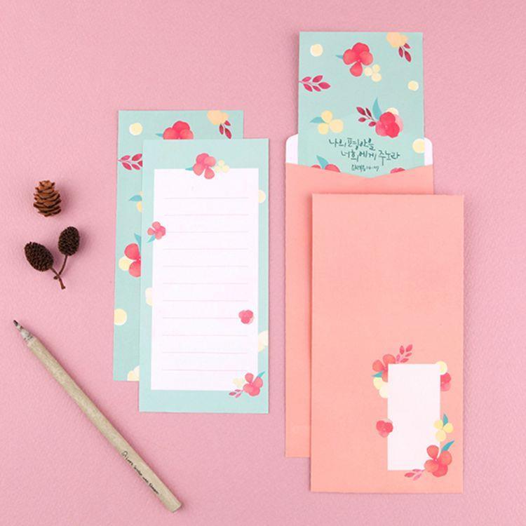 Flower花朵信紙組 06.薄荷