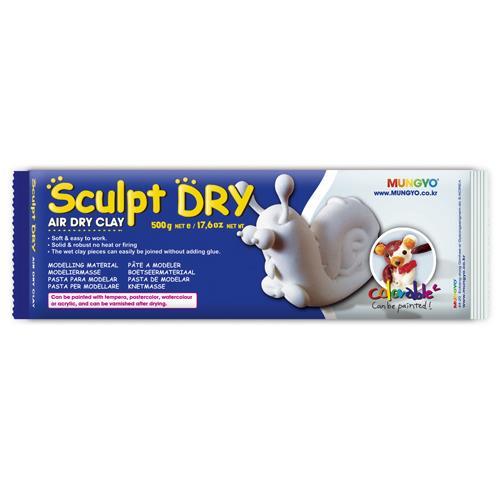 韓國 MUNGYO 無毒 免燒陶土 公仔土 500g 白色 Sculpt Dry