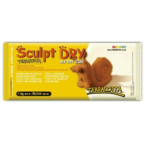 韓國 MUNGYO 無毒 免燒陶土 公仔土 1kg 棕色 Sculpt Dry