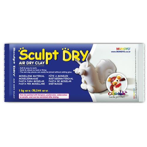 韓國 MUNGYO 無毒 免燒陶土 公仔土 1kg 白色 Sculpt Dry