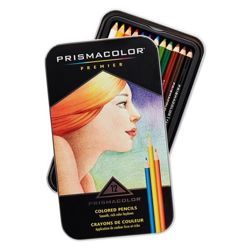 美國 Prismacolor Premier 頂級軟芯 油性 色鉛筆 12色