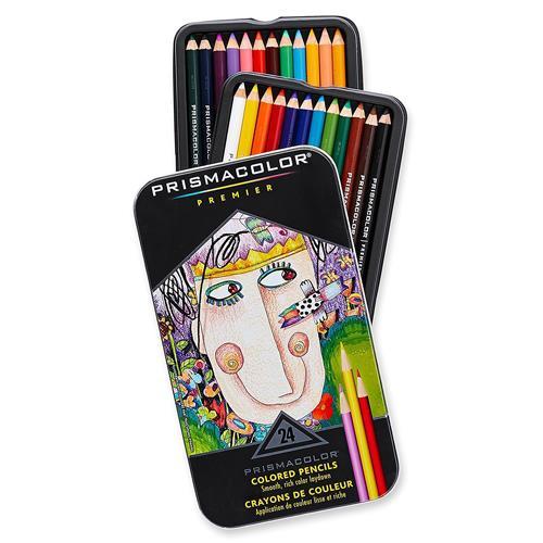 美國 Prismacolor Premier 頂級軟芯 油性 色鉛筆 24色