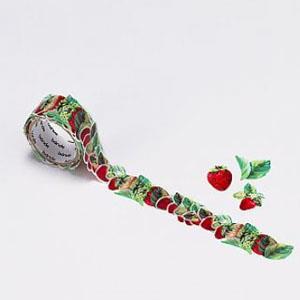 【bande】和紙膠帶貼紙_花朵系列 草莓