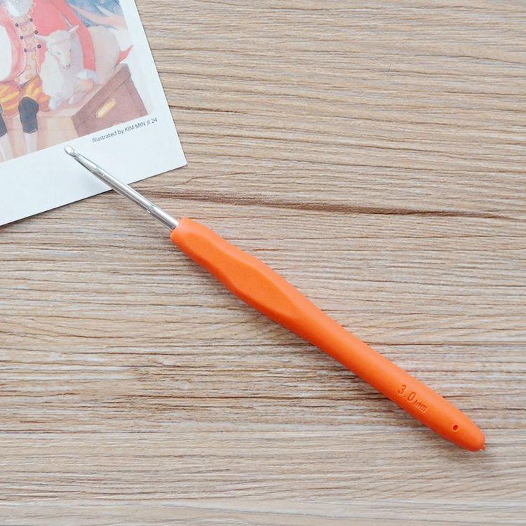 軟膠柄亮彩鉤針(3.0mm/5號)