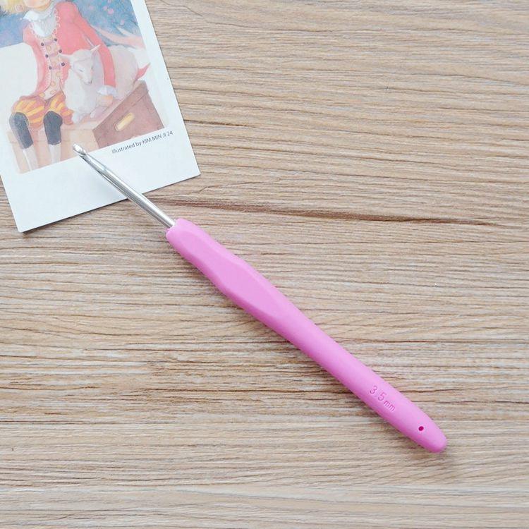 軟膠柄亮彩鉤針(3.5mm/6號)