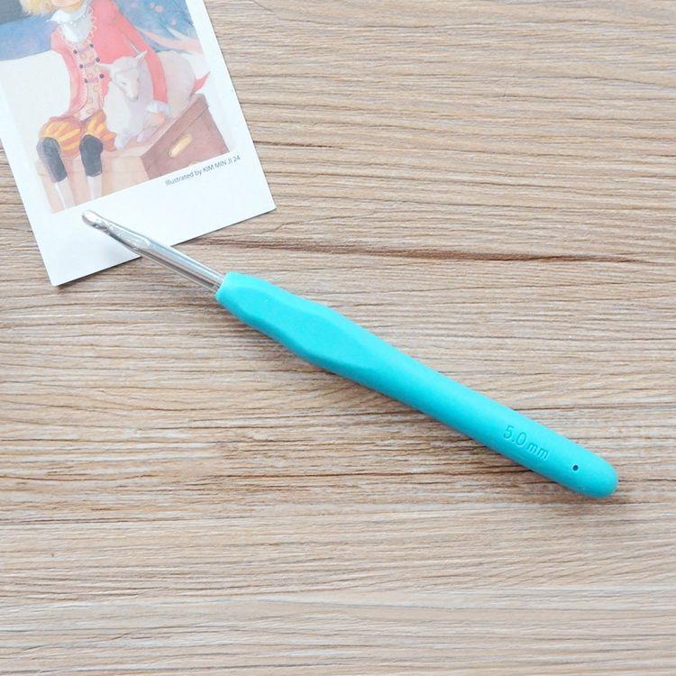 軟膠柄亮彩鉤針(5.0mm/8號)
