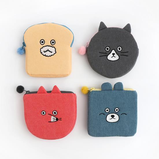 [Romane] Brunch Brother Pom Pom 動物造型收納包 - Brunch貓