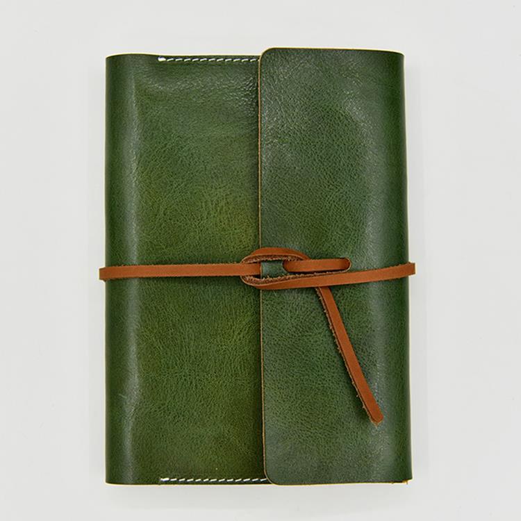Adventure探險系列-純手工真皮古樸綠 + 陌上花開(灰)-鋼筆適用紙