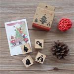 聖誕系列木質印章-04.聖誕樹(4入/組)