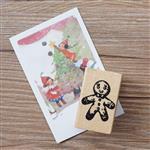 聖誕系列木質印章-01.薑餅人(單枚入)