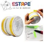【ESTAPE】抽取式Memo貼-色頭黃/寬版(33mm/重複貼黏/標籤註記/可書寫/便利貼/手帳)