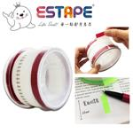 【ESTAPE】抽取式Memo貼-色頭紅/寬版(33mm/重複貼黏/標籤註記/可書寫/便利貼/手帳)