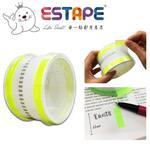 【ESTAPE】抽取式Memo貼-色頭螢光黃/寬版(33mm/標籤註記/可書寫/便利貼/手帳)