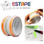 【ESTAPE】抽取式Memo貼-色頭螢光橙/寬版(33mm/標籤註記/可書寫/便利貼/手帳)