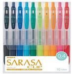 ZEBRA 斑馬SARASA CLIP JJS15 環保鋼珠筆 (0.4/ 10色組)