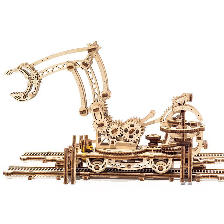 Ugears 自我推進模型 (Rail Manipulator 機械小鎮-鐵道怪手)
