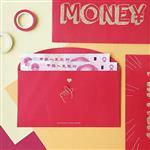 信的戀人紅包文字系列手拿鈔票燙金紅包袋-我有錢(6入)