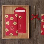 信的戀人可愛系列滿滿圖案燙金紅包袋-梅開五福(6入)