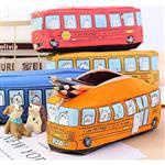 普里諾搭校車巴士公車上學帆布筆袋/鉛筆盒/化妝包(隨機出貨)