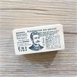 木質橡膠印章 02.巴黎髮廊-舊報紙系列