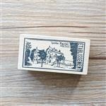 木質橡膠印章 06.老式建築-舊報紙系列