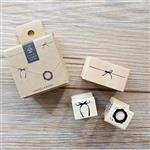 木質橡膠印章 04.配飾套裝(3入/套)-包裝系列