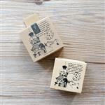 木質橡膠印章 05.歐式古堡-旅行記憶系列