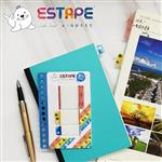 【ESTAPE】旅行Memo易撕貼-日本風情(重複黏貼/可書寫/手帳/裝飾/標籤/貼紙/旅遊)