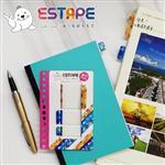 【ESTAPE】旅行Memo易撕貼-旅行者(重複黏貼/可書寫/手帳/裝飾/標籤/貼紙/旅遊)
