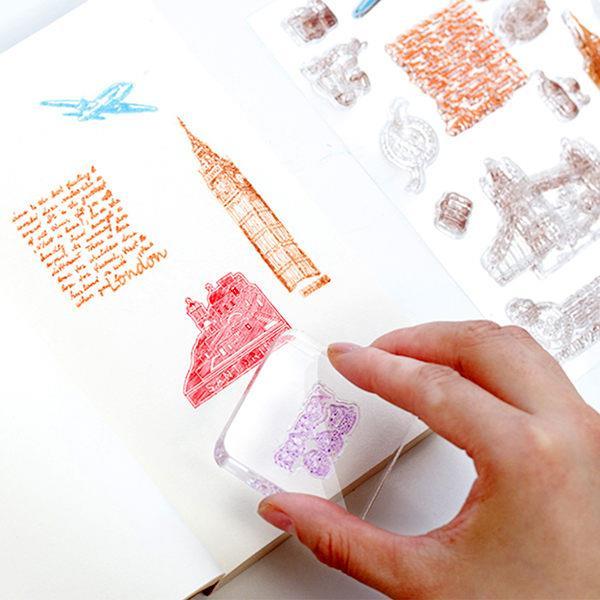 DIY日記印章配件壓克力板(7.5*7.5cm)-透明正方