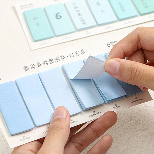 漸層顏彩系列便利貼/便條紙/N次貼(薄紅)