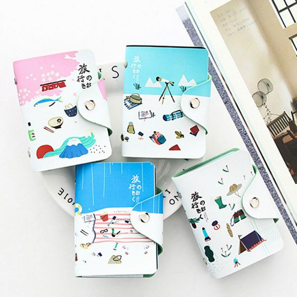 日文旅行風格卡包套[20卡位](富士山)