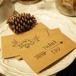 復古牛皮紙感謝系列卡片(花環)