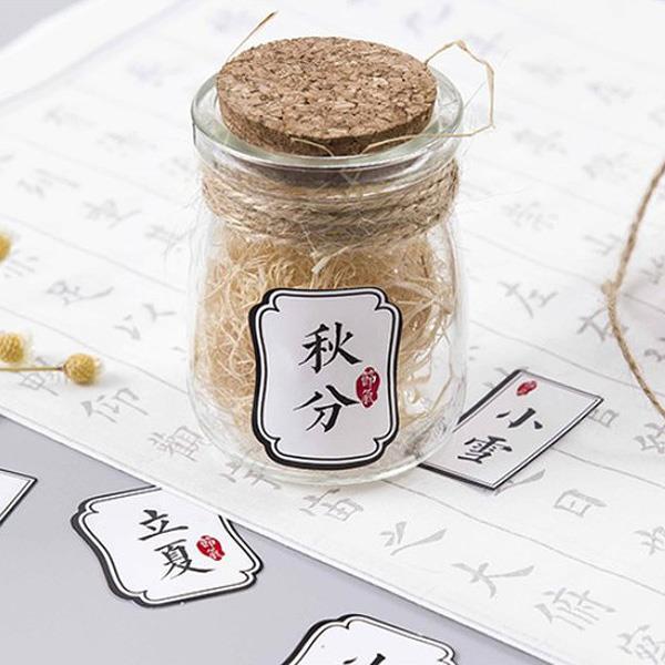 陌默中國風二十四節氣盒裝貼紙(48入)