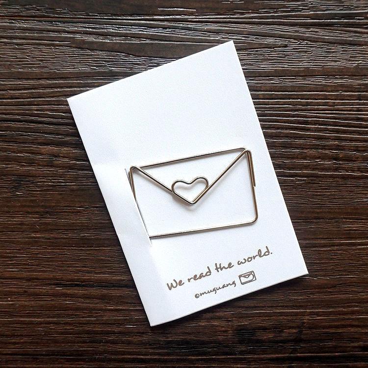 信封‧迴魂針造型書籤卡