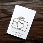 相機‧迴魂針造型書籤卡