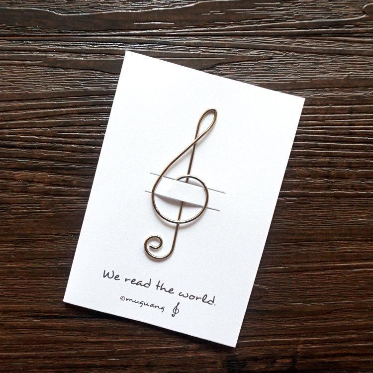 高音譜記號‧迴魂針造型書籤卡