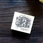 木質橡膠印章 01.行李箱-復古手稿系列