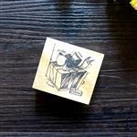 木質橡膠印章 04.禮物-復古手稿系列