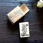 木質橡膠印章 03.金絲桃-植物系列