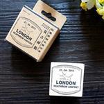 木質橡膠印章 01.倫敦班機-復古郵戳系列